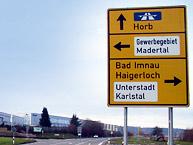 Straßenschild Gewerbegebiet Madertal