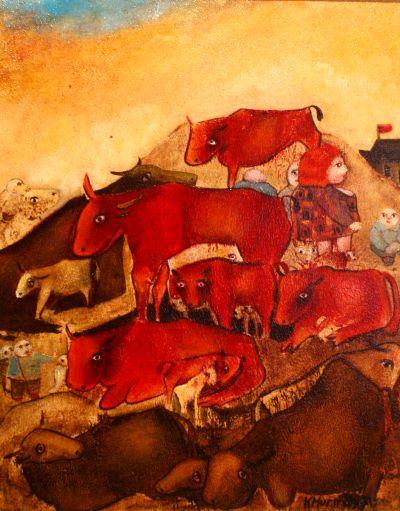 Karl Hurm, Tiere am Berg_kl