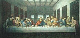 Religiöses Gemälde zeigt das Abendmahl