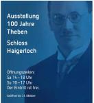 Ausstellungsplakat 100 Jahre Theben