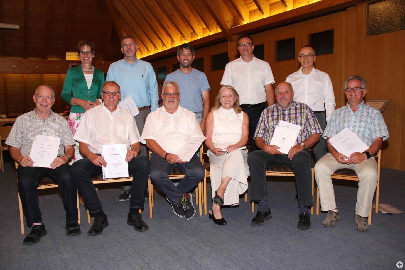 Ehrung Gemeinderatsmitglieder 2019